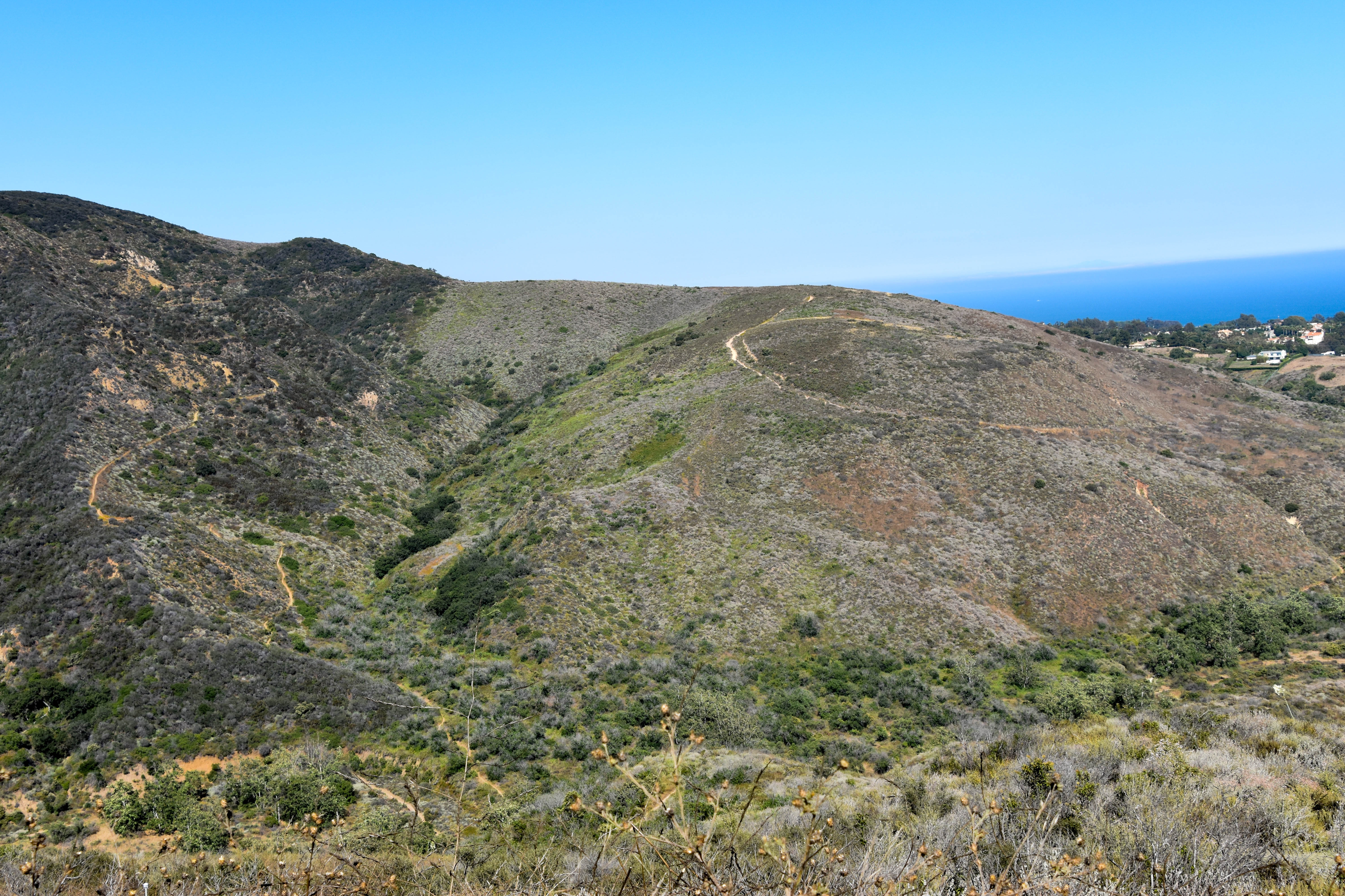 From The Main Road There Are A Couple Of Signed Fire Roads Which Break East And West I Stayed On North South Zuma Ridge Trail All Way